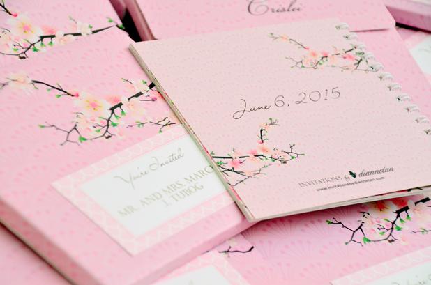 Charlou Crislei S Cherry Blossom Themed Wedding Scrapbook