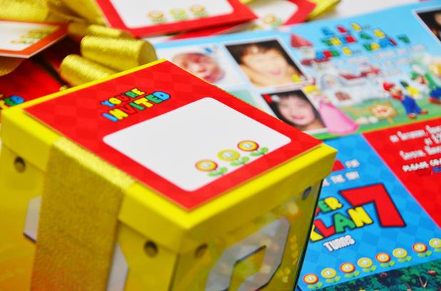 Xylan's Super Mario Themed Exploding Box Invitations, Philippines