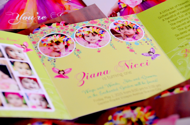 Zianas Enchanted Fairy Garden Themed 1st Birthday Invitations Philippines