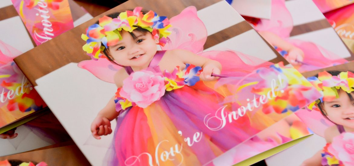 Ziana's Enchanted Fairy Garden Themed 1st Birthday Invitations, Philippines