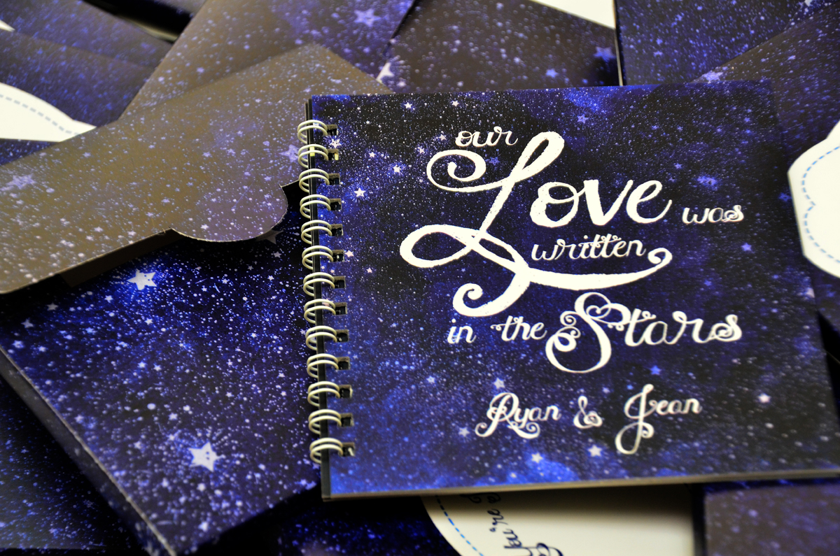 starry night themed wedding, starry night wedding invitations, starry night party idea, starry night invitations